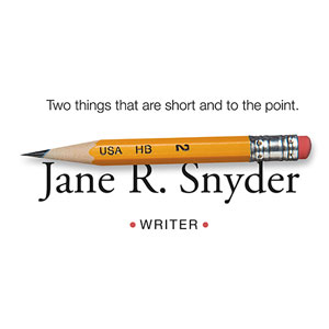Logo for Jane R. Snyder, writer